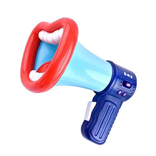 ZYCX123 Divertido para niños Cambiador de la Voz de Juguete Juguetes de la grabación del micrófono con el megáfono y el Regalo para los niños niñas Azul Recuerdos función de grabación