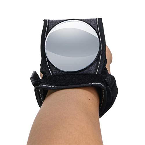 Bicicletta Bike Specchio posteriore Ciclismo Cinturino da Polso Reflex Vista Posteriore Braccio Retrovisore Guanti Ciclismo con Specchi Moto