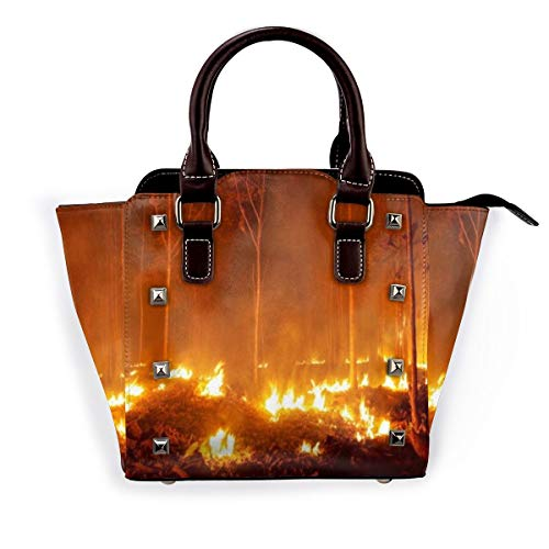 BROWCIN Silvicultura Incendio forestal Incendio forestal Quema de árboles Naturaleza Roca Desmontable Moda Tendencia Bolso de las señoras Bolso de hombro