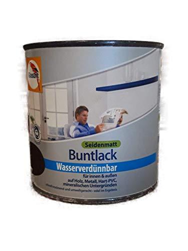 3 x 375 ml Glasurit Buntlack Wasserverdünnbar Seidenmatt Innen/Außen 1,125 L Farbwahl (Leichte Flugrost), Farbe:Wüstensand
