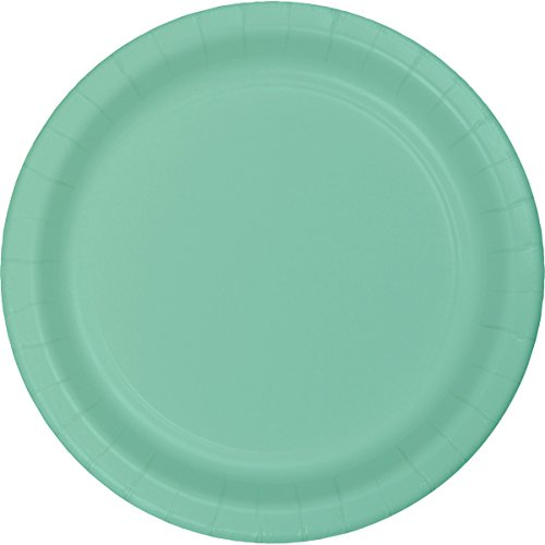 Creative Converting 318894 24 Count Paper Lunch Plate, 7', Fresh Mint