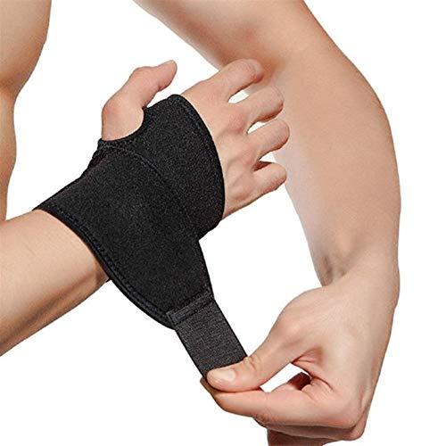 UOYAN Vendaje Elástico De Neopreno Fitness Yoga Mano Palm Brace Soporte De Muñeca Gym Pad Protector Daily (Color : Black)