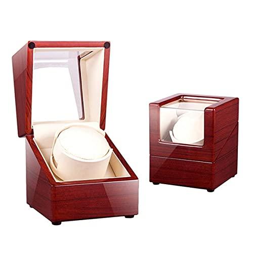 caja de reloj Caja enrolladora automática de reloj de una sola cabeza para 1 reloj, motor deslizante y 5 modos de rotación, caja de almacenamiento de reloj mini Motor silencioso Adaptador de CA y