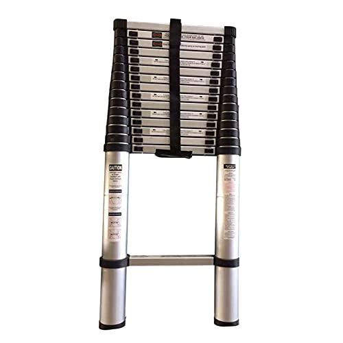 Escalera Telescópica Escaleras Telescópicas de Aluminio con Mecanismo de Bloqueo, Escalera Alta Extensible para Interior Exterior Ingenieria Familiar, Escalón Extra Ancho (Size : 4.6m/15ft)