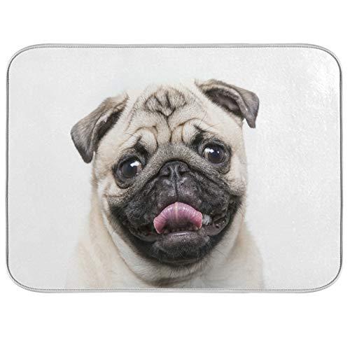 Lihuaval - Alfombrilla de secado para platos de perro y perro con aislamiento térmico absorbente para cocina, accesorios de mesa