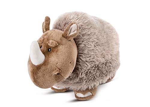 NICI 46649 Kuscheltier Wollnashorn Ellinor 23cm stehend – Plüschtier für Mädchen, Jungen & Babys – Flauschiges Stofftier zum Spielen, Sammeln & Kuscheln – Gemütliches Schmusetier, BRAUN/GRAU
