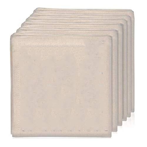 Senmubery Paquete de 6 Estopilla de 20 X 20 Pulgadas de Grado, Tela de Gasa Reutilizable Ultrafina para Colar, Cocinar, Hornear, en Casa