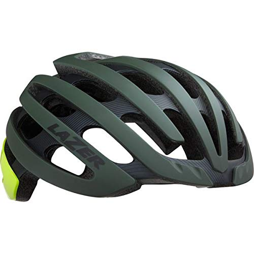 Lazer - Z1 MIPS Helmet, Matt Dark Green/Flash Yellow, Medium