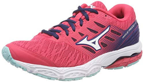 Mizuno Wave Prodigy 2, Zapatillas Mujer, Multicolor (Teaberry/Silv/Blued 001), 40.5 EU