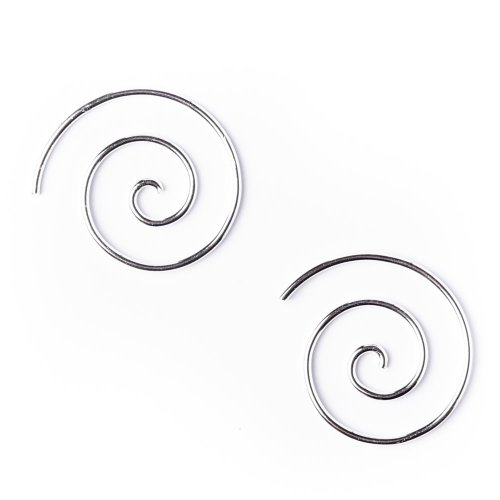 81stgeneration Plata de Ley .925 Tribal Pendientes Espirales 18 mm