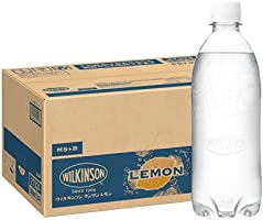 MS+B 「ウィルキンソン タンサン」 レモン 炭酸水 ラベルレスボトル 500ml×24本 [Amazon限定ブランド]
