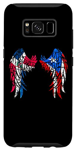 Galaxy S8 DominiRican Dominican Puerto Rican Flag Guardian Angel Wings Case
