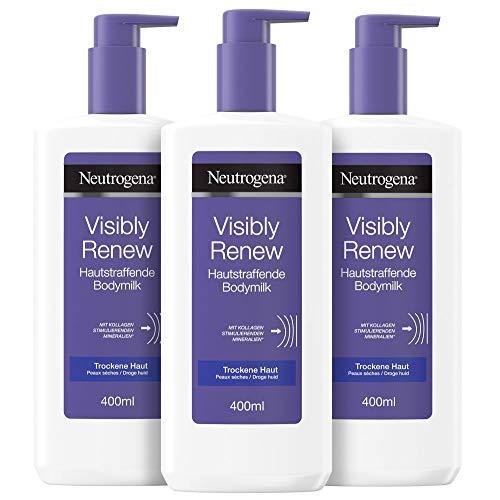 Neutrogena Norwegische Formel Bodylotion, Visibly Renew, straffend für trockene Haut, 3 x 400ml