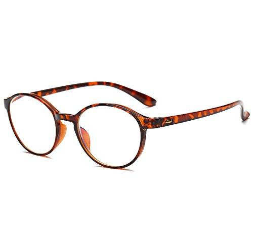 VEVESMUNDO Gafas de Lectura Mujer Hombre Bloqueo Luz Azul Presbicia Antireflejos Grandes Flexible Redondas Retro Calidad Para Ordenador Leer Vista Graduadas