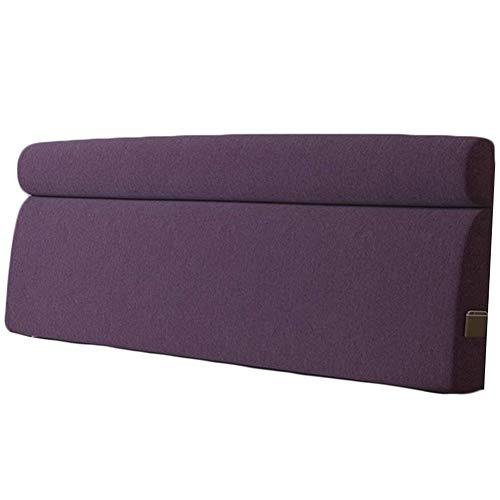 QIANCHENG-Cushion Kopfteil Rückenlehnen Bett Kissen Wedges Rückenlehne Taillenpolster Flachs Hauptschlafzimmer Taillenpolster großes Kissen, 5 Farben (Color : #4, Size : 120x58x10cm)