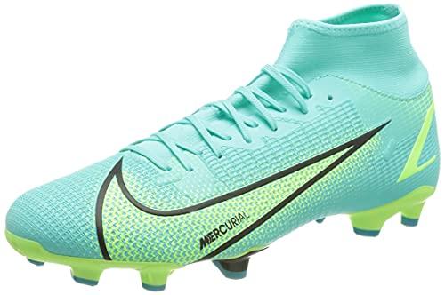 Nike Unisex Football Soccer Shoe, Dynamic Turq Lime Glow Off Black, 12.5 US Men