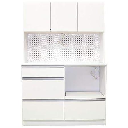 ダイニングボード キッチンボード 食器棚 幅120cm 120 食器 ミラノ k35-1 (ホワイト) モイス ハイタイプ キッチン収納 レンジ台 日本製 開梱設置