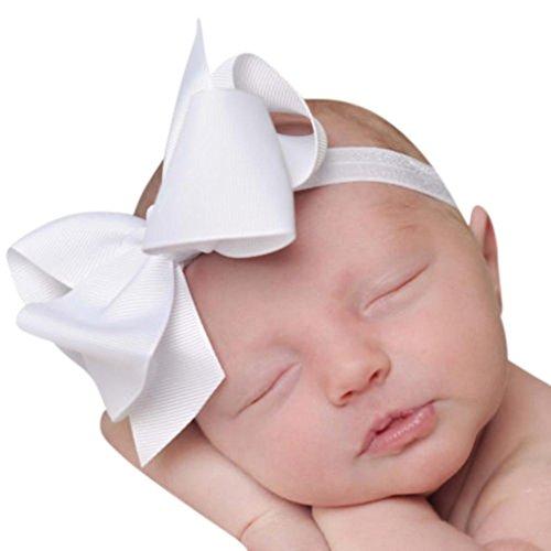 Huhu833 3 Stück Kids Elastic Blumen Stirnband Haarband Mädchen Baby Bowknot Stirnband Set (E)