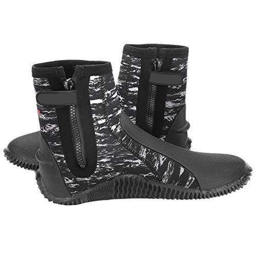 Tamaño de la bota de buceo 42 5 mm Zapato de buceo cómodo de 5 mm Bota de esnórquel antideslizante Zapato de buceo de neopreno ligero para bucear, nadar, hacer esnórquel, etc.