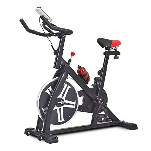 Ejercicio bicicleta estacionaria 330 libras de peso de capacidades cubierta ciclo de la bici con el monitor LCD for el hogar entrenamiento, bicicleta estacionaria ejercicio Cardio Correr bicicleta de