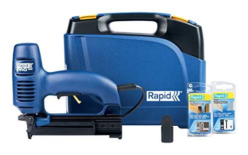 Rapid Agrafeuse électrique, Puissance et précision, Grande capacité, Pour un usage régulier, Agrafes incluses, PRO, R606, 10643015 Bleu