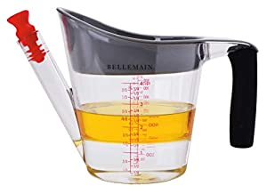 Bellemain 4-Cup Fat Separator / Measuring Cup with Strainer