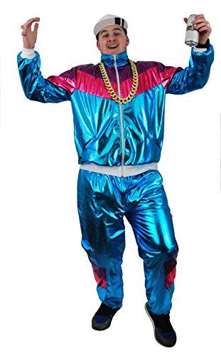 I LOVE FANCY DRESS LTD Shell Suit HIP HOP Rapper= KOSTÜM VERKLEIDUNG=Verschiedene GRÖSSEN =DAS PERFEKTE KOSTÜM FÜR Fasching UND Karneval DER 80iger Jahre= SMALL