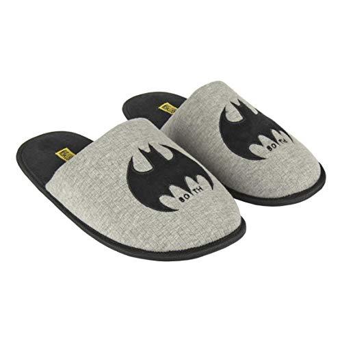 Artesania Cerda Hombre Abierta Premium Batman Zapatillas de Estar por casa, Grau (Gris C13), 43 EU