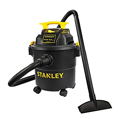 Stanley SL18115P Wet/Dry Vacuum, 5 Gallon, 4 Horsepower, 4.0 HP AC, Black