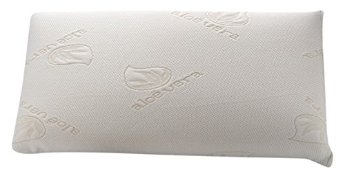 Dormio - Almohada viscoelástica con perfecta adaptabilidad al cuello, Tejido Aloe Vera, Termorregulable, Blanco, 75 cm