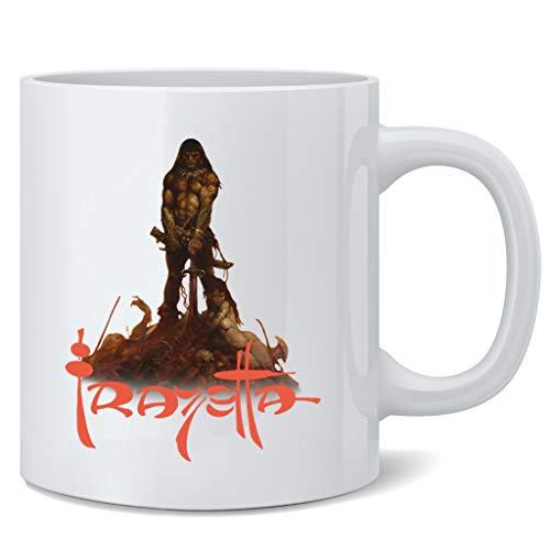 Poster Foundry Barbarian by Frank Frazetta Art Ceramic Coffee Mug Tea Cup Fun Novelty Gift 12 oz