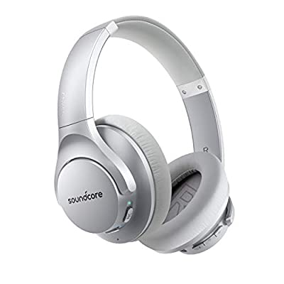 Anker Soundcore Life Q20 Hybrid Active Noise Cancelling Headphones, Wireless Over Ear Bluetooth Headphones, 40H Playtime, Hi-Res Audio, Deep Bass, Memory Foam Ear Cups, for Travel, Home Office from Anker