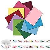 Xruison 60 Fogli di Carta Velina 10 Colori Carta Crespa Carta Artigianale Carta Colorata per Confezioni Regalo Arte Artigianato Bambini Fai da Te 70 X 50 Cm