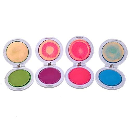 Luxshiny 4 Farben Haarkreidepulver Haarfarbe Temporäre Helle Haarkreide Malerei Haar Pastellfarbstoff-Kit für Erwachsene Mädchen (Lila Rosig Blau Grün)