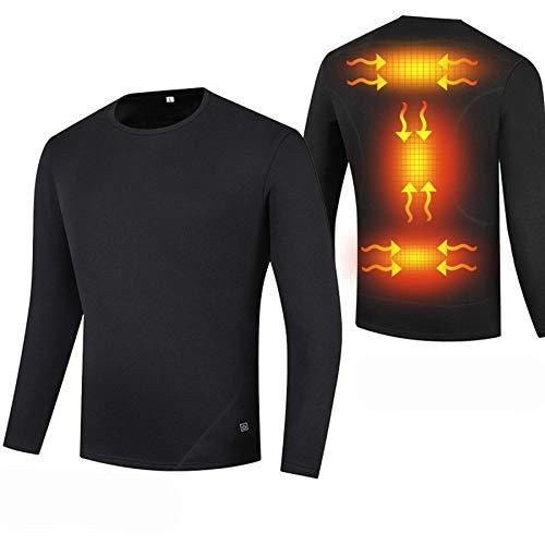MAZ Usb Smart Electric Heating Thermal Unterwäsche Oben, Basisschichtheizung Langarmshirts Hemden Temperatur Einstellbar Temperatur,Xxx-Groß