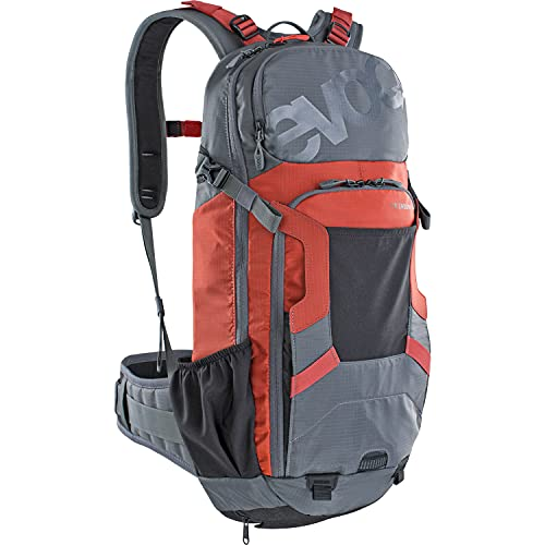 Evoc FR Enduro 16l Protector Backpacks, Carbon gris/rojo Chili M/L