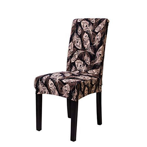WQEDZSADv Cubiertas de la Silla del Spandex de Brown Astilla Presidente elástico Cubiertas Cubiertas Estilo Americano para Las sillas de la Cena de Boda del Restaurante HYM Universal Size