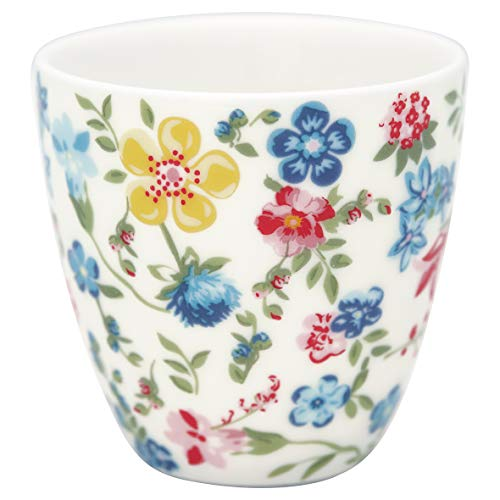 GreenGate - Espressotasse, Kaffeetasse, Mini Latte Cup - Sophia - Porzellan - White - 125 ml
