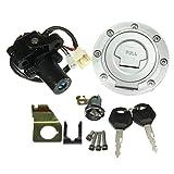 Motor ciclo de bicicleta eléctrica Kit de conversión Interruptor de encendido del asiento de bloqueo de combustible de gas cubierta de la tecla Set de accesorios de motos YZF R1 R6 2001-2012 motocicle