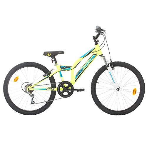BIKE SPORT LIVE ACTIVE Bikesport Gamma 24 Zoll Mountainbike Shimano 6 Gang Mädchen - Fahrrad, Jungen- Fahrrad, geeignet ab 130-155 cm