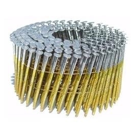 2-1/4 in. x 0.092 in. Full Round-Head Ring Shank Hot-Dipped Galvanized Wire Coil Siding Nails (3,600-Pack) from Various Nail Brands