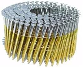 2-1/4 in. x 0.092 in. Full Round-Head Ring Shank Hot-Dipped Galvanized Wire Coil Siding Nails (3,600-Pack)