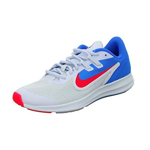 Nike Downshifter 9 Heat CHK GS, Zapatillas de Atletismo Hombre, Multicolor (Photo Blue/Blue Tint/Red Orbit 400), 38.5 EU