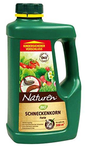 Naturen Bio Schneckenkorn Forte, Anwendungsfertiges Ködergranulat zur Schneckenbekämpfung im Garten und Gewächshaus, 950g Streudose für 300m²