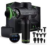 Pistolet de massage Wellax - Pistolet de massage puissant avec 11 têtes de massage [2600 mAh] - Pistolet de massage avec affichage LED et sac de transport - Épaules et nuque