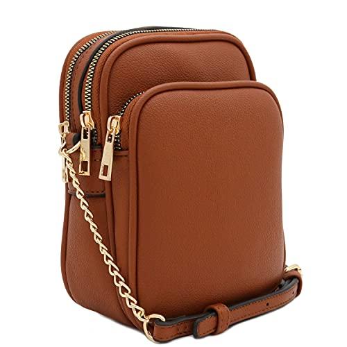 Multi Pocket Casual Crossbody Bag (Brown)