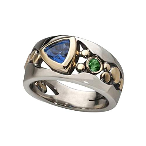 Creative Hollow Inlaid Green Zircon Ring Engagement Party Jewelry Size 6-10 Rings Jewelry & Watches For Woman Valentine Easter Gift