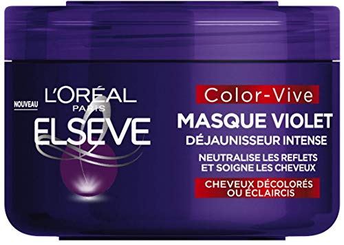 L'Oréal Paris - Elseve Color-Vive - Masque Violet Déjaunisseur Intense pour Cheveux Décolorés/Eclaircis 250ml