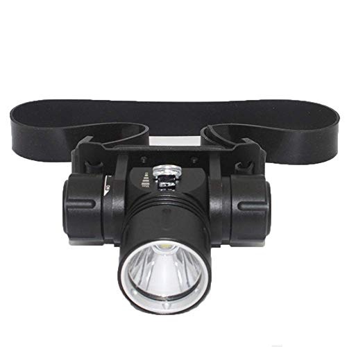 ZLHW Impermeable de antorcha de Cabeza LED, CREE XML-L2 Foco Sumergible LED Submarino IPX8 Impermeable Subacuático 100M Faros 1200LM Headset Buceo Faros