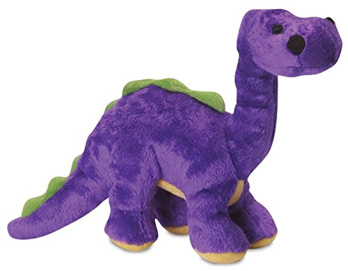 goDog Dinos Bruto With Chew Guard Technology Tough Plush Dog Toy, Purple, Small, 770961